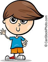 cute little boy cartoon illustration