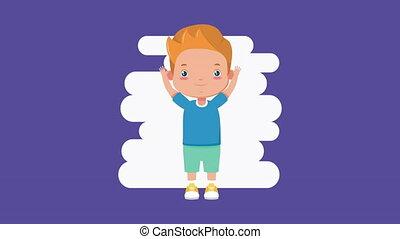 cute little boy comic character