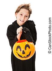 Cute Little Boy on Halloween