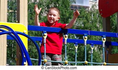 Cute little boy  playing