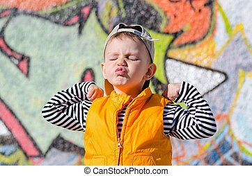 Cute little boy pulling a face pursing his lips - Cute ...