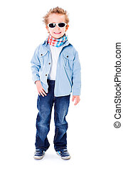 Cute little boy with sunglasses