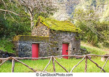 Cute, little building in Chao da Ribeira, Madeira, Portugal
