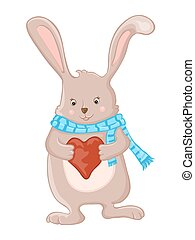 Cute little bunny with  love heart