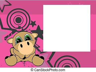 cute little camel cartoon frame