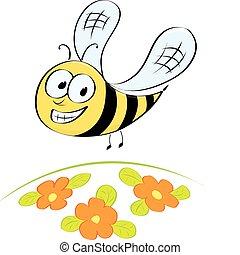 Cute little cartoon bee