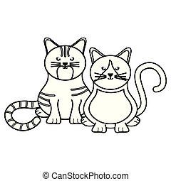 cute little cats pets characters