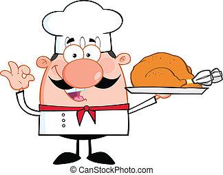 Cute Little Chef Cartoon Character