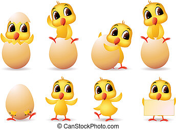 cute little chicks cartoon collection