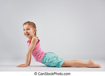 girl enjoying yoga