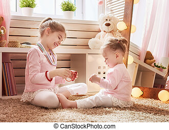 children are playing together