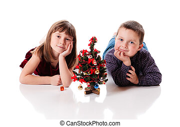 Cute little christmas couple