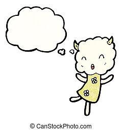 cute little cloud monster cartoon