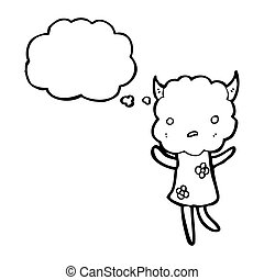 cute little cloud monster cartoon