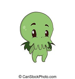 Cute little Cthulhu illustration