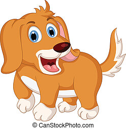 cute little dog cartoon expression