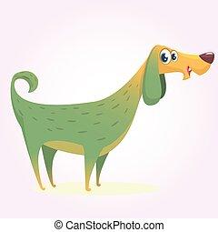 Cute little dog cartoon. Vector illustration of a doggy