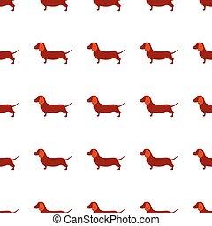 Cute little dogs scotch terriers silhouette seamless. - Cute...