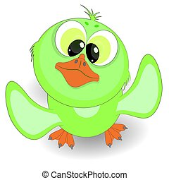 cute little duckling. cartoon vector illustration on a white background.