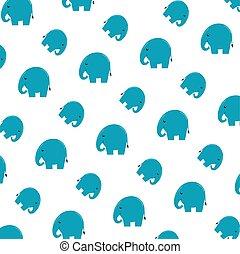cute little elephants pattern background