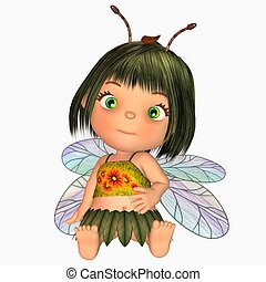 cute little fairy - 3d