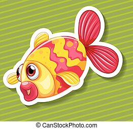 Cute little fish swimming