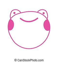 cute little frog character icon