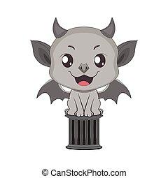 Cute little gargoyle illustration