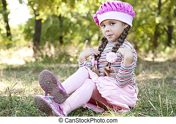 Cute little girl at outdoor