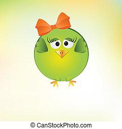 cute little girl bird