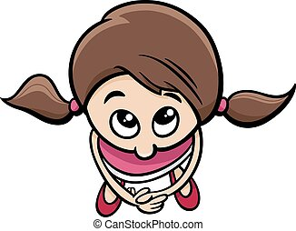 cute little girl cartoon character