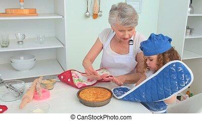 Cute little girl cooking