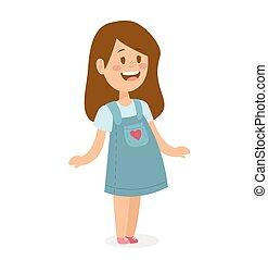Cute little girl cute dress
