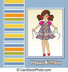 cute little girl wishing you happy birthday