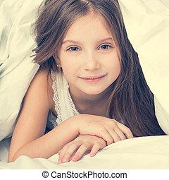 cute little girl in a bad