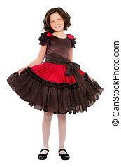 Cute little girl in a dress