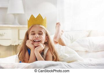 queen in gold crown