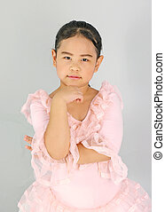 Cute little girl in ballet dress