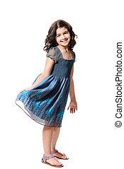 cute little girl in blue dress