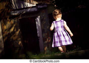 cute little girl in dress