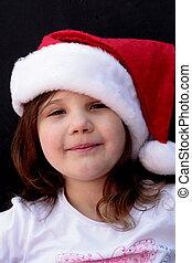 Cute little girl in santa hat