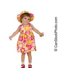 Cute little girl in summer dress