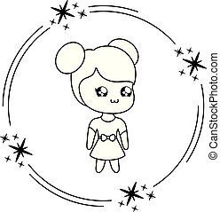 cute little girl kawaii style