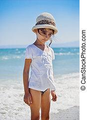Cute little girl on the beach