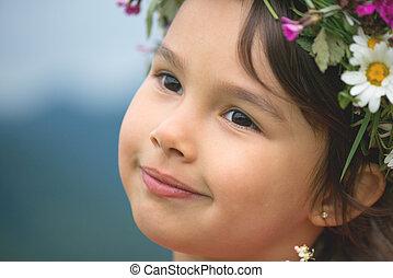 Cute little girl smilling