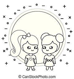 cute little girls kawaii style
