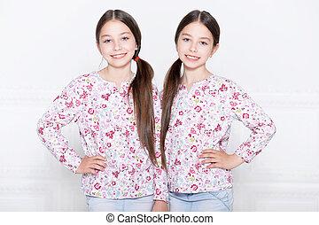 cute little girls posing - Portrait of a cute little girls...