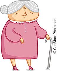 Cute little grandma vector illustration