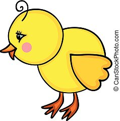 Cute little happy chick