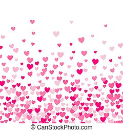 Cute little hearts background, different size and colors, random order
